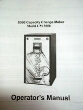 Seaga Operating Manual (Copy) for $300 Capacity Change Maker Model Cm 3050