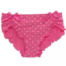 Womens White PolkaDots Pink Knickers Pants Briefs 2 Pk Set Ladies Fit Sizes 8-10