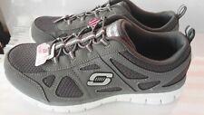 Ladies Skechers, Memory Foam, Light Weight Slip On Skechers in Grey size 3