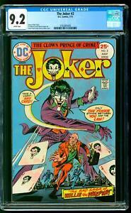The Joker 2 CGC 9.2 NM- Commissioner Gordon app Ernie Chan cover DC 1975
