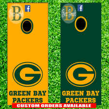 Green Bay Packers Cornhole Board Decal Set of 6 Vinyl Decals 6 Piece Kit NFL