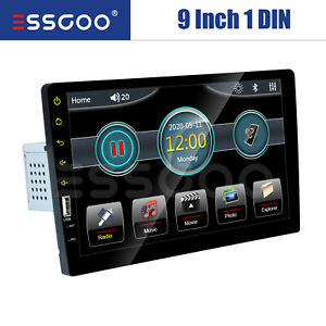 """Single 1 Din 9"""" Car Stereo FM USB AUX MP5 Player Touch Screen Radio BT In-Dash"""