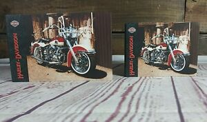 Harley-Davidson Red Duo Glide Motorcycle Protective Folder Empty Binder Pair NOS