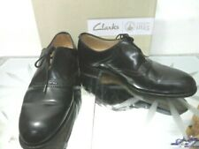 CLARKS Narrative Isabella black leather lace up block heel brogues UK 5D  EU38
