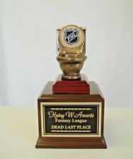 Fantasy Hockey Toilet Bowl Loser Individual Last Place Trophy Free Engraving *
