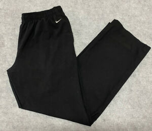 Vintage Nike Youth Track Pants Soft Shell Gym Windbreaker Size Large 12-14 Black