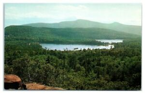 1950s/60s North and South Lakes from Pinnacle Point, Catskills, NY Postcard