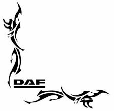 DAF Tribal coin HGV Fenêtre Stickers Autocollants X 2