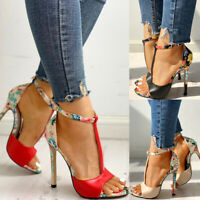 Women Sexy Exquisite High Heel Shoes Stiletto Super High Heel Sandals Clubwear