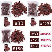 100 Pcs Nail Art Sanding Bands Set For Nail Drill Machine Bits Manicure Pedicure