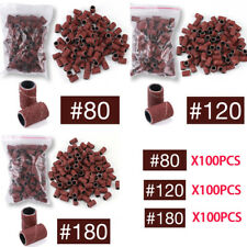 "100pcs/bag Nail Drill Bit 80""120""180"" Sanding Band Nail Art Manicure Tools"