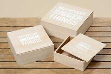 "Holzbox ""Cashual"" Shabby Chic Aufbewahrungsbox 3 tlg. Set in beige"