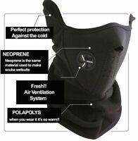 Black Ski Snowboard Motorcycle Bicycle Winter Sport Face Mask Neck Warmer Warm J