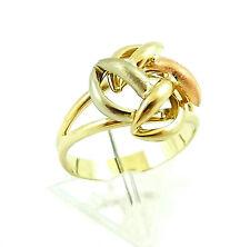 formschöner tricolor Ring in Gold 333 RW 56 (D1205)