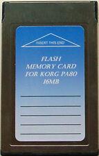 16Mb Flash Memory Card for Korg pa 80 pa80