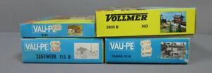 Vollmer & Vau-pe HO Scale Building Kits: 3600B, 8121, 115B, 8116 [4]/Box
