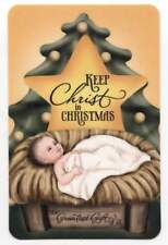 Keep Christ in Christmas Holy Card with the Keep Christ in Christmas Prayer