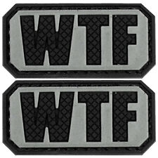 2x WTF PVC Morale Patch 3D Tactical Badge Hook #43