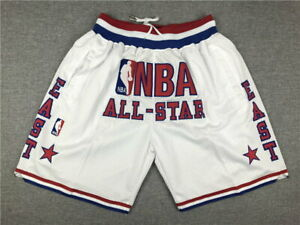 All star game shorts All Sewn (1988 White, 1991 Red, 1996 Teal, 1997 White)