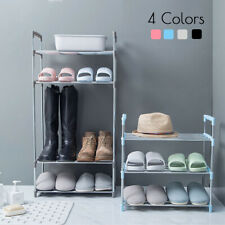 ☆ 3/4/5/6 Tier DIY Shoe Rack Stainless Steel Storage Organiser Stand Shelf Home