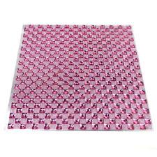 Crystal Diamond Sticker Sheet, 10-Inch, Pink