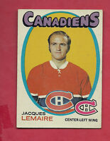 1971-72 TOPPS  # 71 CANADIENS JACQUES LEMAIRE  CARD