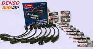 Genuine DENSO Spark  Plugs + Leads Holden GEN3 V8 5.7L LS1 VT VX VY VU VZ SS HSV