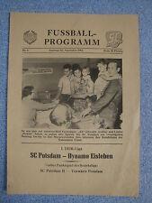 *RAR*Programmheft 1961 SC Potsdam Dynamo Eisleben DDR Oberliga Babelsberg 03 HFC