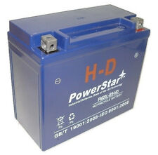 New Harley Davidson Motorcycle Replacement PowerStarH-D Battery, 3 Year Warranty