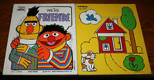 2 1970s Playskool Tray Puzzles - Bert & Ernie  and My House - Both complete