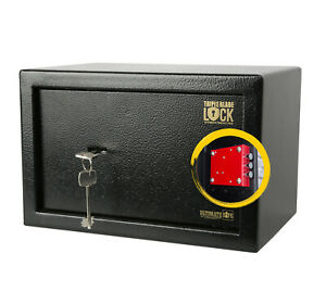 Ultimate Safe® 8.5LHome Office Money Safe Box with Key - High Security Lock