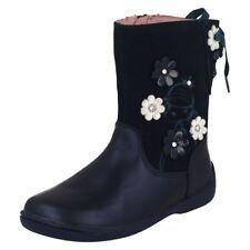 Chaussures bleues en cuir pour fille de 2 à 16 ans pointure 24