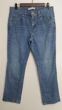 Levis 505 Jeans Womens 10 Straight Leg Medium Wash Cotton Blend Stretch Denim
