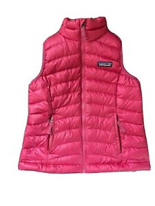 Patagonia Girls' DOWN SWEATER VEST Size Small Pink