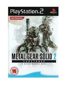VIDEOGIOCO PLAY STATION 2 METAL GEAR SOLID 2 SUBSTANCE MGS2 PAL LINGUA INGLESE