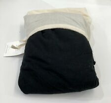 Restoration Hardware Garment-Dyed Linen Box-Spring Cover Twin Black NEW $129