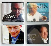 4 BBC Correspondent Biographies MARR, SIMPSON, Jon SNOW, BUERK - CD Audio Books