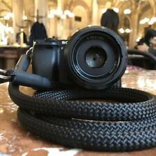 Camera Strap black - Kamera Seil schwarz Kameraband Tragegurt für DSLR