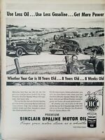 Lot of 2 Vintage 1948 Sinclair Opaline Motor Oil  Print Ads Wall Art Decor