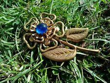 Flower Brooch Large Blue Set