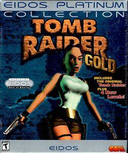 Tomb Raider Gold Pc New Retail Box DOS Win95 Original TR Plus 4 New Levels