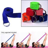 Yoga Stretch Strap Women Fitness Accessories D-Ring Belt Exercise Gym Rope