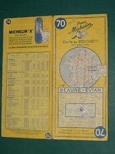 Carte MICHELIN n° 70 BEAUNE ÉVIAN 1962