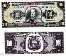 Equateur ECUADOR Billet 100 Sucres 20/04/ 1990 P123 S.BOLIVAR NEUF UNC