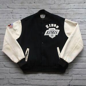 Vintage 90s Los Angeles Kings Varsity Jacket by Chalk Line Leather Wool Rare