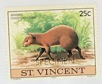 St. Vincent #608 MNH Specimen CV$0.50 Agouti Dasyprocta aguti