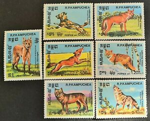 STAMPS CAMBODIA 1984 DOGS MINT HINGED - #4829