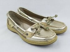 Sperry Boat Shoes Top Sider Womens  Angelfish Gold Leather 9102187 Size 5.5 M