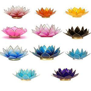 Teelichthalter Lotus Kerzenhalter Kerzenständer Lotusblüte Windlicht Lotusblume