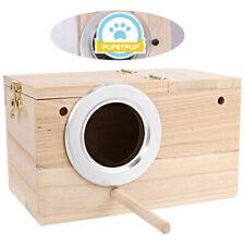 Wild Bird Nest Breeding Box Cage Wood House Warm & Conducive to Parrot Supplies
